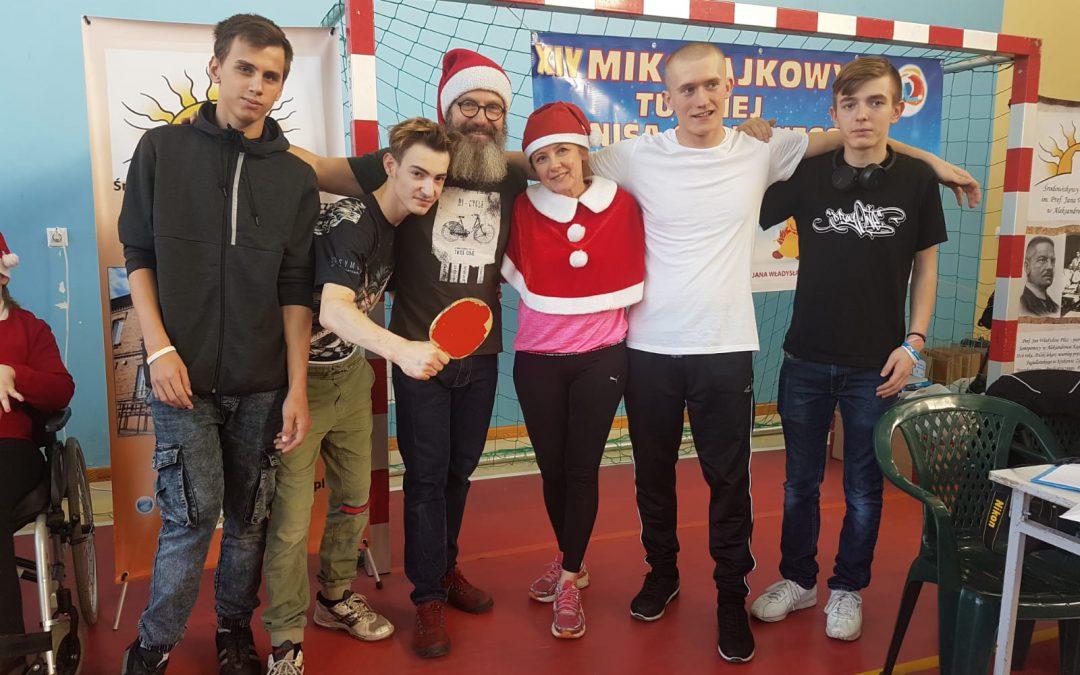 XIV Mikołajkowy Turniej Tenisa Stołowego