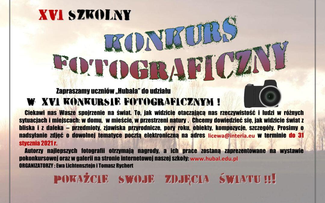 XVI Szkolny Konkurs Fotograficzny